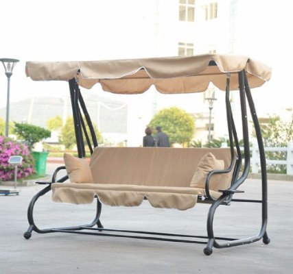 #6 Outsunny Covered Outdoor Porch SwingBed