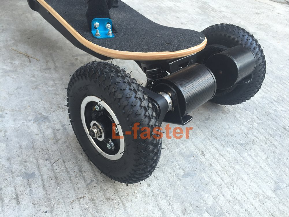 Electric Skateboard Truck Off Road Skateboard Belt Drive Truck 4 Wheel Longboard Mountains Skateboard, Off-Road Skateboards