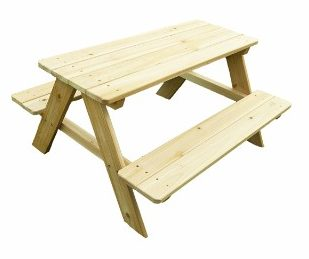 #7 Merry Garden Kids Wooden Picnic Bench
