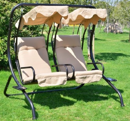#8 Outsunny Outdoor Garden Patio Covered Double Swing