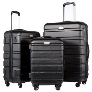 Coolife Luggage 3 Piece Suitcase