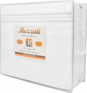 Mezzati 1800 Thread Count Microfiber Sheet