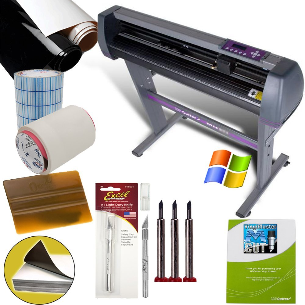 uscutter vinyl cutting machines 28 inch vinyl cutter value sign making bundle with design and cut software - Best Vinyl Cutter