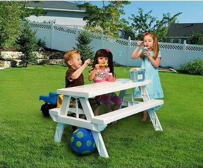 #9 KidNic White Foldable Children's Picnic Table