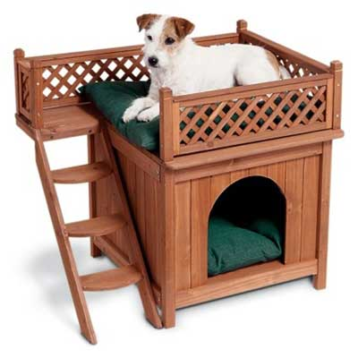 4. Merry Products Wood Pet Home
