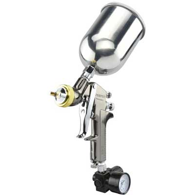 6. Neiko 31215A HVLP Gravity Feed Air Spray Gun with Aluminum Cup