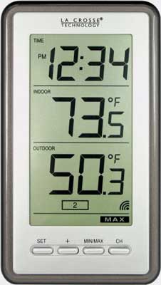 10. WS-9160U-IT Model Digital Thermometer for with Indoor/Outdoor Temperature by La Crosse Technology