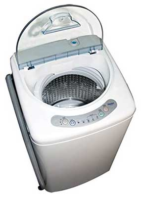 8. Haier HLP21N Pulsator 1-Cubic-Foot Portable Washing Machine