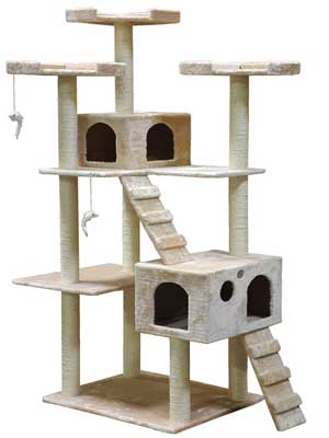 5. Best Cat Tree House by Go Pet Club