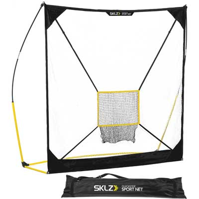 4. Quickster Baseball and Softball Practice Net - Ultra Portable and Lightweight Quick Assembly Multi Sport Net by SKLZ