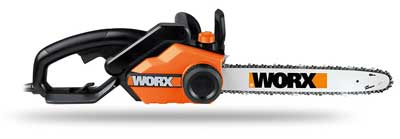 3. Electric Chainsaw with Auto-Tension 16-Inch 14.5 Amp, Chain Brake, and Automatic Oiling by WORX