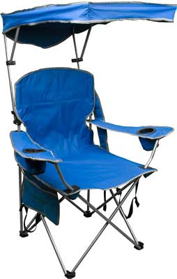 9. Quik Shade Adjustable Canopy Folding Camp Chair
