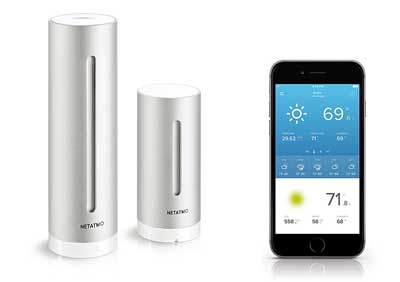 1. Weather Station for Smartphone, Compatible with Amazon Alexa by Netatmo