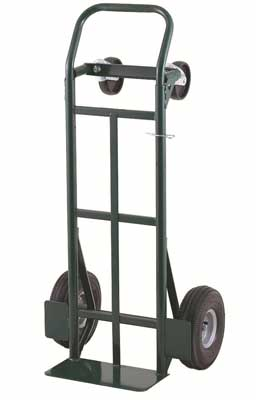 10. Super-Steel Convertible Hand Truck, Dual Purpose 2 Wheel Dolly and 4 Wheel Cart by Harper Trucks