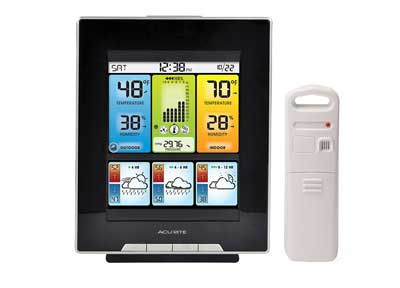 2. 02007 Digital Weather Center with Morning Noon and Night Precision Forecast Thermometer by AcuRite