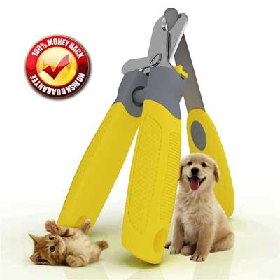 9. Trim-Pet Dog Nail Clippers - Professional Vet Quality - Razor Sharp Stainless Steel Blades With Safety Guard
