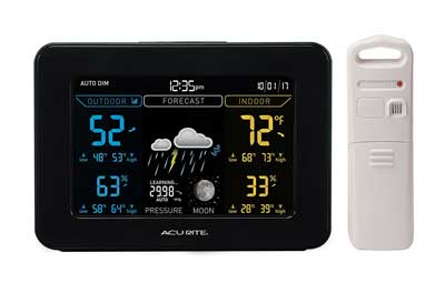 4. 02027A1 Color Weather Station with Forecast, Temperature, and Humidity by AcuRite