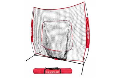 1. PowerNet Softball and Baseball Practice Net 7x7 with ow frame