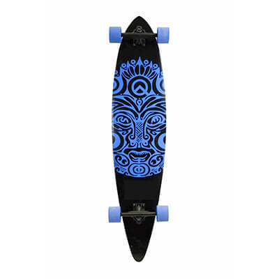 SCSK8 natural blank and stained assemble complete longboard