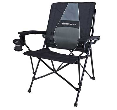3. STRONGBACK Elite Folding Camping Chair with Lumbar Support