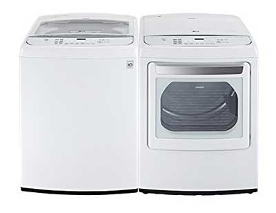 2. LG High-Efficiency Top Load Washer with TurboWash
