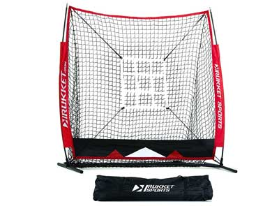 2. Rukket 5x5 Baseball & Softball Practice Net with Strike Zone Target