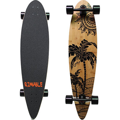 RIMABLE Bamboo pintail longboard