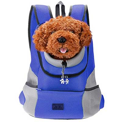 2. Comfortable Dog Cat Pet Carrier Backpack Travel Carrier Bag by CozyCabin