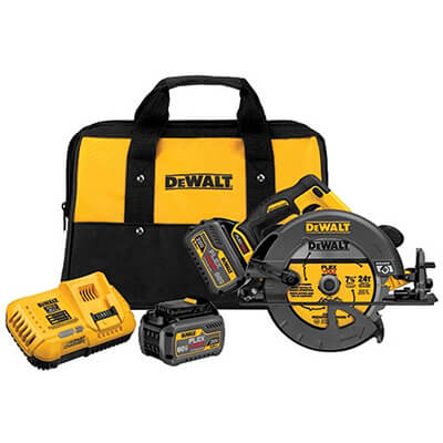DEWALT Brushless Circular Saw with Brake and 2 Battery Kit