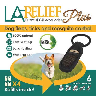 9. La Relief Flea and Tick Control Collar Clip and Mosquito Repellent