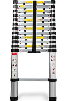 Best Telescoping Extension Ladders - Aluminum Telescopic Extendable Ladder by OxGord