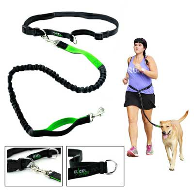 8. Hands Free Dog Leash for Runners - Best Dog Leash for Running Hiking Walking -Extendible Retractable Reflective Hands Free Leash by Clickgofit