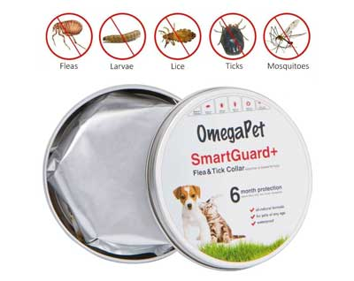7. OmegaPet Natural Flea Collars for Dogs