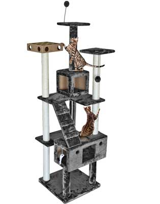 6. Tiger Tough Cat Tree House Furniture for Cats and Kittens by FurHaven