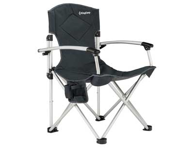 1. KingCamp Camping Chair The Foldable Oversize Portable Quad Light Weight Deluxe Padded With Comfortable Smooth Armrest, Carry Bag Included