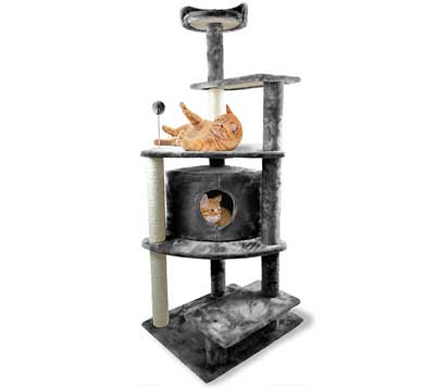 8. Tiger Tough Cat Tree House Furniture for Cats and Kittens by FurHaven