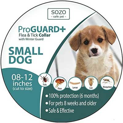 5. SOZO Flea and Tick Collar for Puppies and Small Dog Breeds