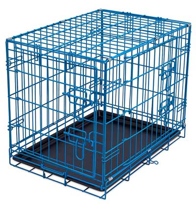 wire dog kennel double door metal steel crates indoor outdoor pet home - Collapsible Dog Crate