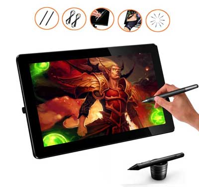 Best Graphic Design Tablets - HK1560 15.6 Inches IPS Screen HD Resolution Drawing Monitor