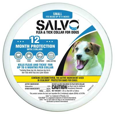 4. SALVO Flea and Tick Collars for Dogs