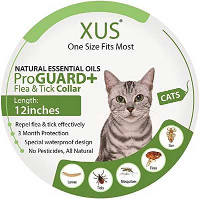 6. XUS Natural Flea and Tick Repellent Collars for Cats
