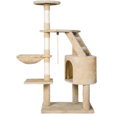 7. Cat Tree Cat Tower with Condo House Furniture by Merax