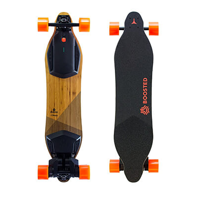 Boosted dual + skateboard with wireless remote and charger
