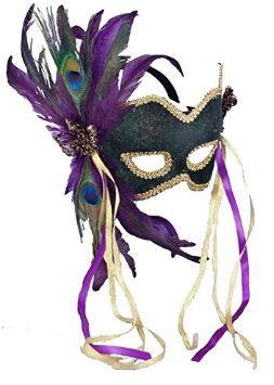 Forum Deluxe Half Mask With Feathers