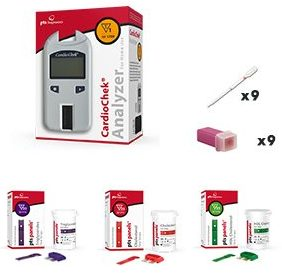 Cardio Chek Starter Cholesterol Analyzer kit with cholesterol test strips-Cholesterol Test Kits