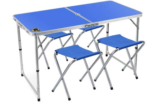 Adjustable Aluminum Camping Table