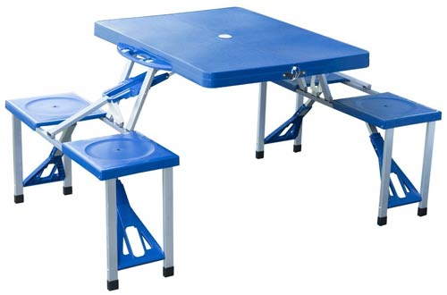 Folding Outdoor Camp Suitcase Picnic Table