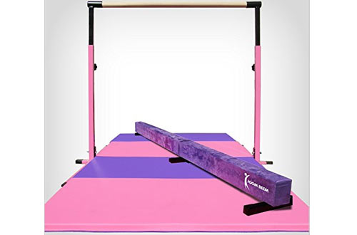 Folding Mat Balance Beam Combo Gym Set