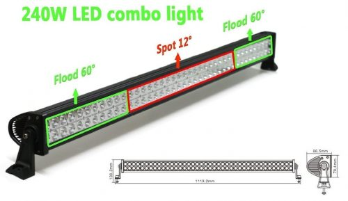 "New World Motoring 42"" Off-Road Extra LED Light Bar"