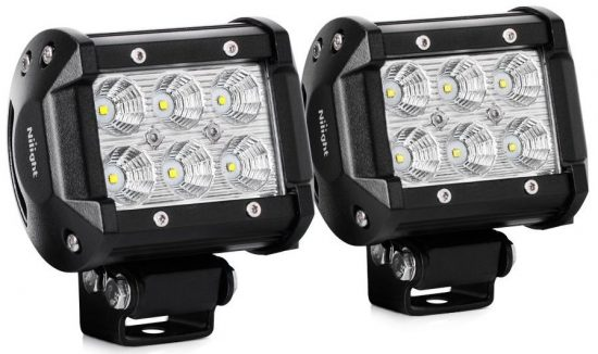 "Nilight Led Light Bar 2PCS 18w 4"" Flood Driving Fog-LED Fog Lights"